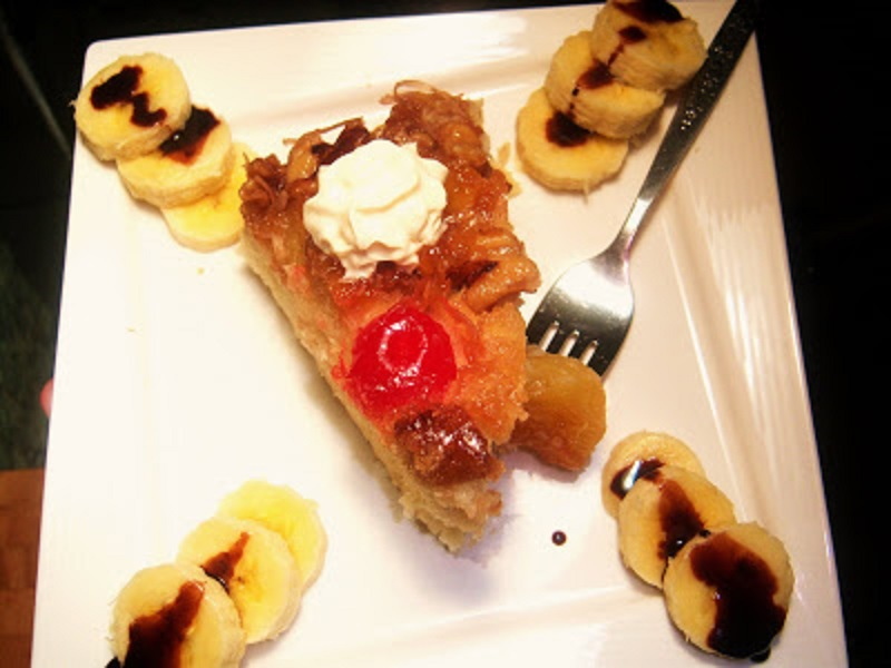 Pineapple Amaretto Upside Down Cake