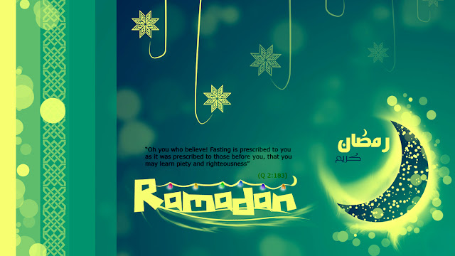 Ramadan Greeting card with quotes and wishes