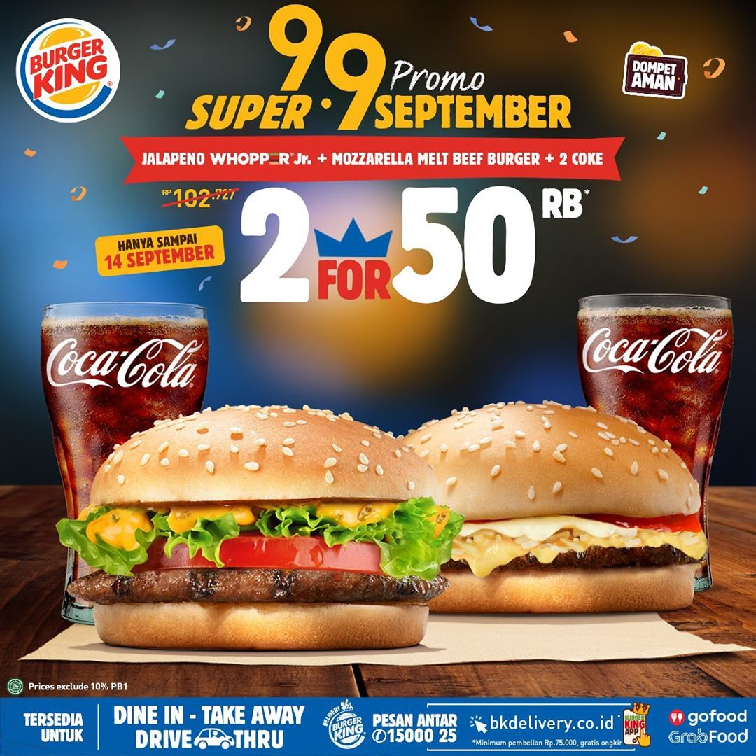 Promo Burger King Super 9.9 Periode 9 - 14 September 2020