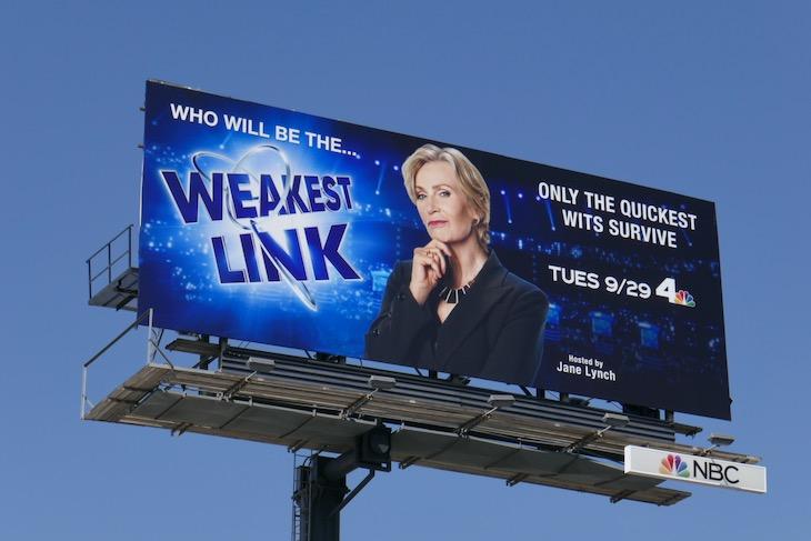 Jane Lynch Weakest Link revival billboard