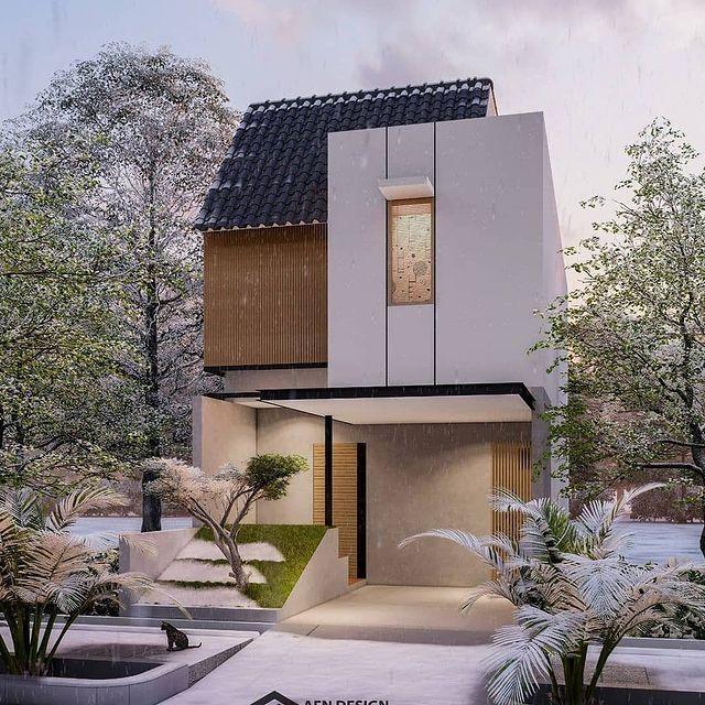 contoh desain rumah minimalis 2 lantai ukuran 8x15