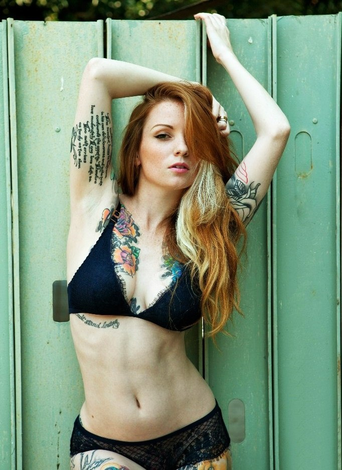 Tattooed beauty girl