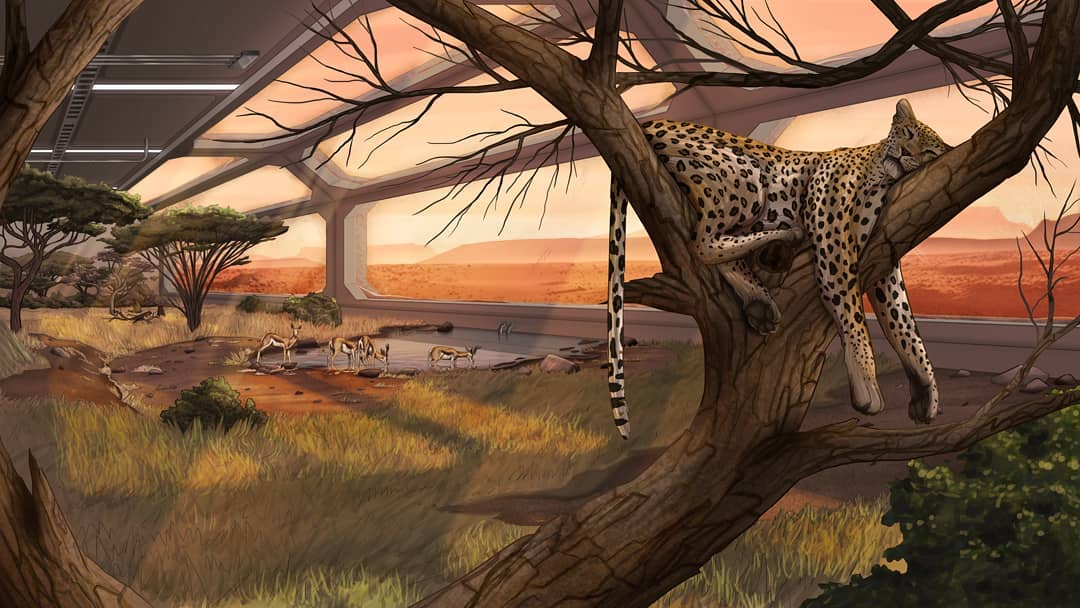 Savanna in a greenhouse on Mars by Casey Richards
