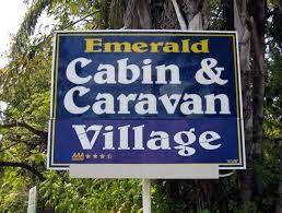 cabin and caravan village