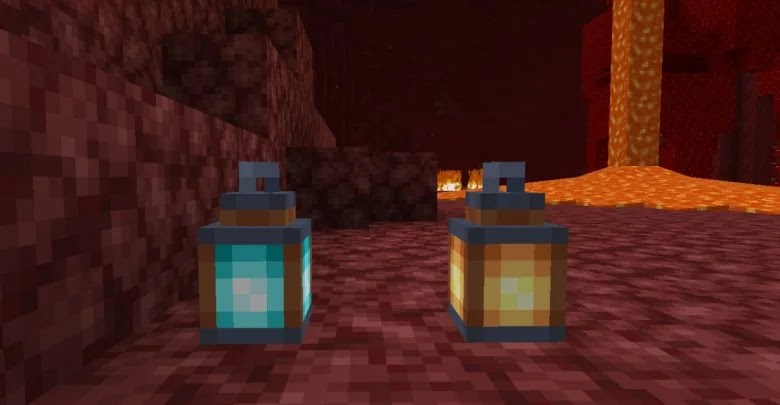 How to make a soul fire lantern in Minecraft