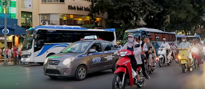 Traffic conditions in Vietnam