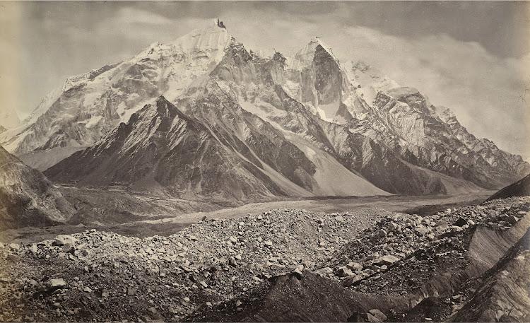 Gangotri Glacier and the Snowy Himalayan Mountains - 1865