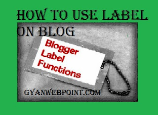 Blog Post me label kaise use kare post category ke liye