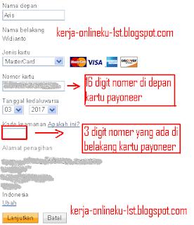 CARA VERIFIKASI PAYPAL DENGAN KARTU PAYONEER