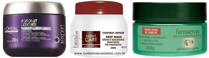 Máscaras de tratamento para cabelos frisados ou com volume