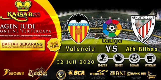 Prediksi Bola Terpercaya Liga Spanyol Valencia vs Ath.Bilbao 02 Juli 2020