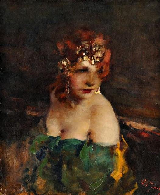 Bertalan Vigh - Lady with Diadem
