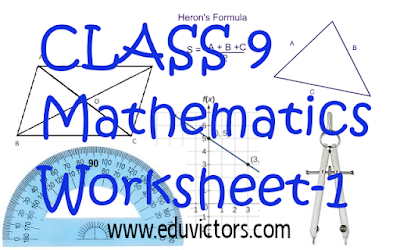 CBSE Class 9 - Maths - Very Short Answer Based Questions (Solved Worksheet-1) (#eduvictors)(#cbseClass9Maths)