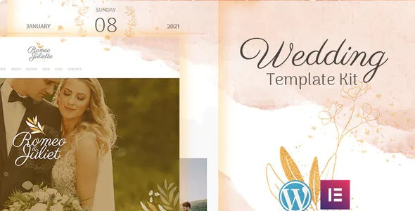 Best Wedding Event Invitation Elementor Template Kit