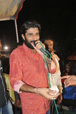Gaman Santhal live garba program photo shoot imges