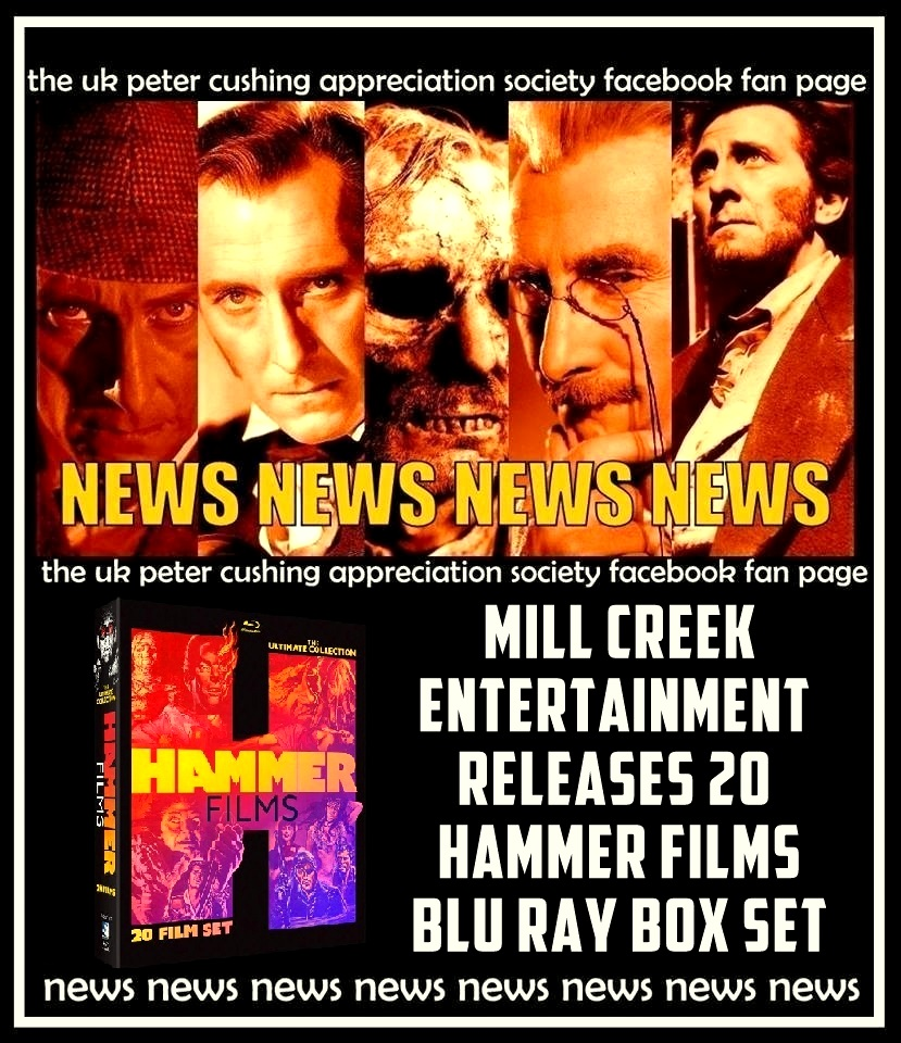 NEWS! MILL CREEK ANNOUNCES THE HAMMER FILM : ULTIMATE COLLECTION