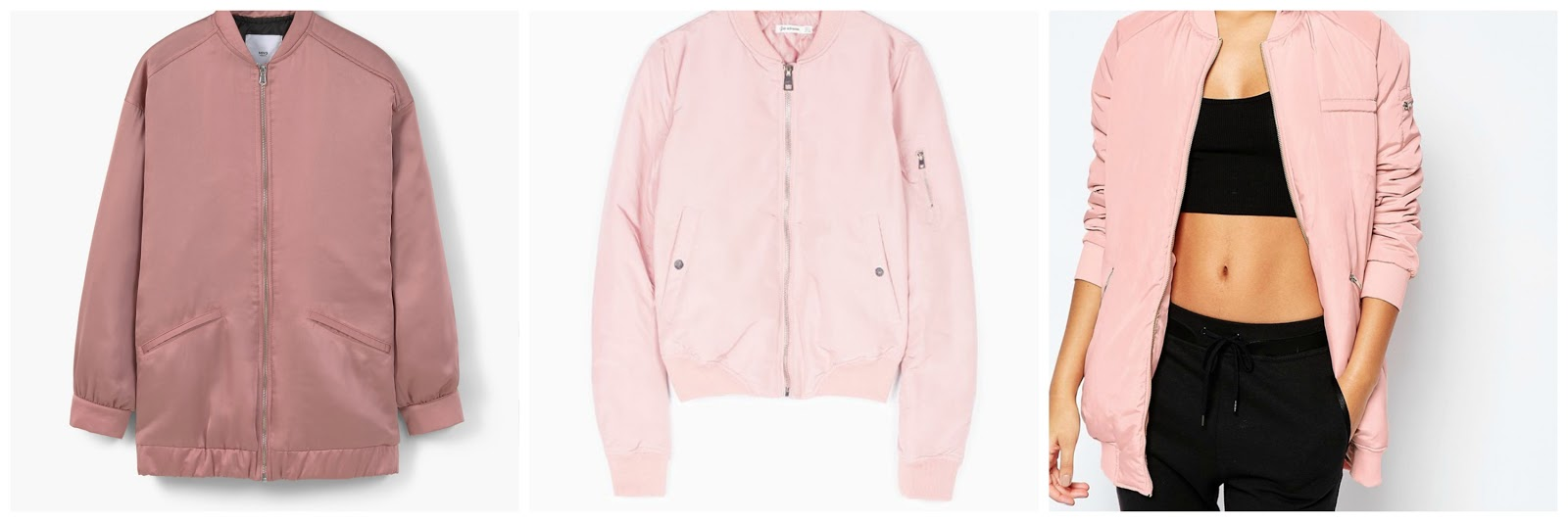 pink bomber jackets