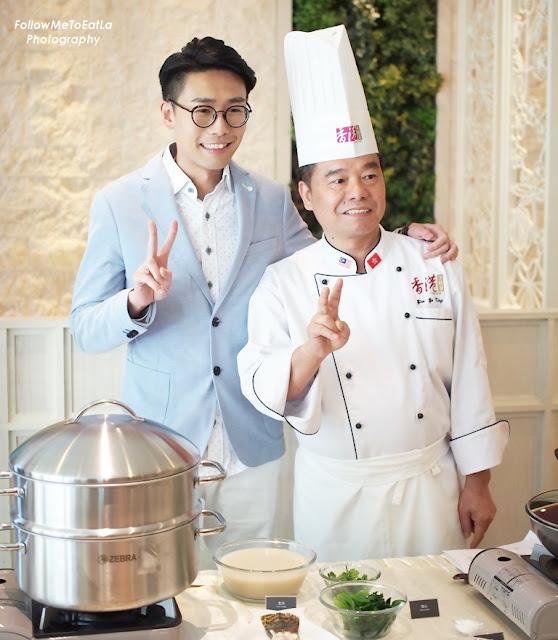 Celebrity Luk Ho Ming  (陸浩明) With Canton-i Chef Yim Yu King  @ Canton-i Sunway Pyramid
