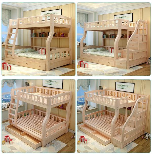 giường tầng đa năng bằng gỗ