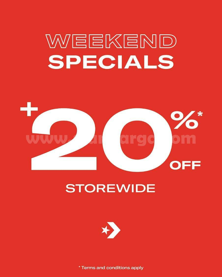 CONVERSE Promo WEEKEND SPECIALS! Get Discount 20% Off