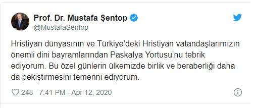 Capo del parlamento turco di origine albanese segna la festa della Pasqua Cristiana