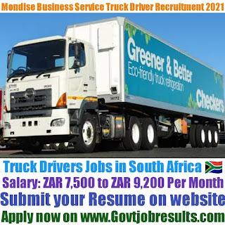 Mondise Business Service Pvt Ltd Code 10 Truck Driver Recruitment 2021-22