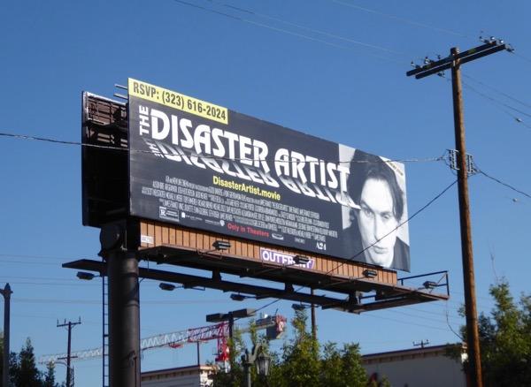 Disaster Artist movie billboard