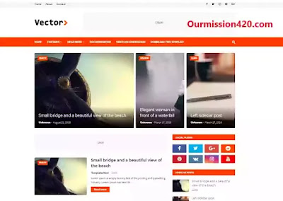 vector best responsive blogger template