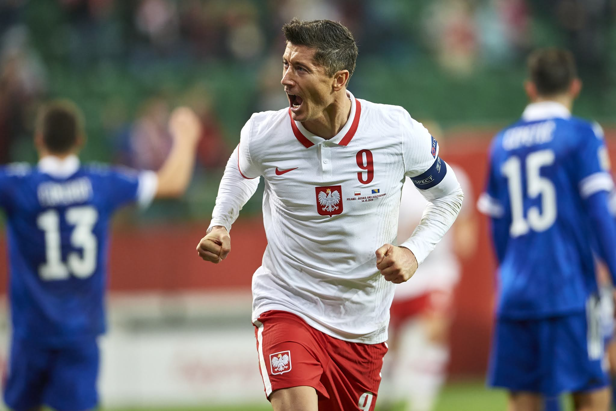 Robert Lewandowski will be hoping to inspire Poland to victory over Slovakia
