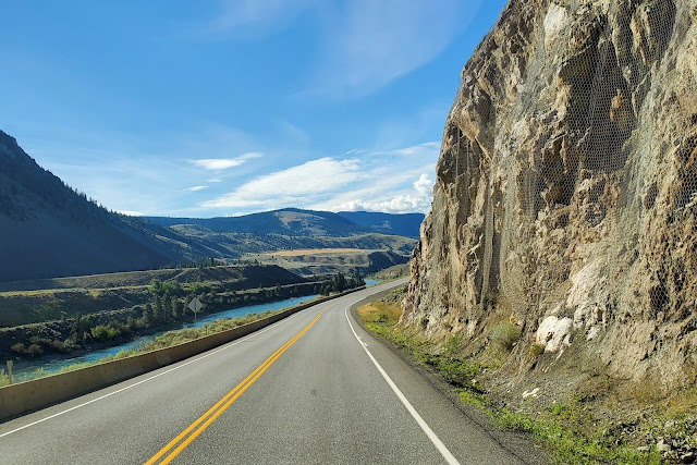 Trans Canada Highway and beautiful view of Thompson River
