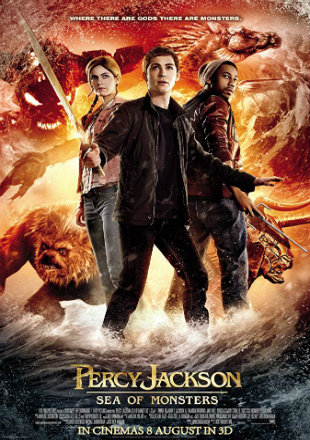 Percy Jackson Sea of Monsters 2013 Full Hindi Movie Download HDRip 720p - YashCover