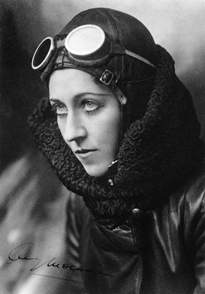 Amy Johnson, first woman to fly solo from London to Australia