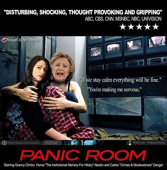 Political Clown Parade: Hillary And Huma: The Panic Room