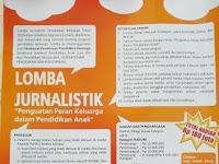 """Lomba Feature, Opini dan Berita """"Pendidikan Keluarga"""" Hadiah Total Rp 180 Juta"""