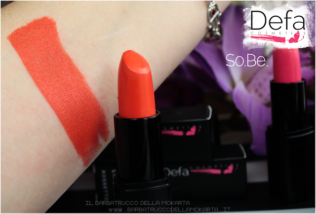 swatches so.be. Defa cosmetics lipstick