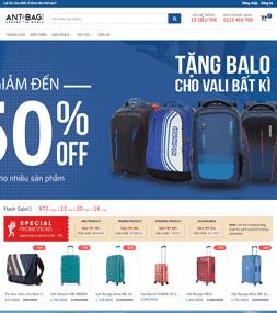 Template blogspot bán hàng Balo thời trang