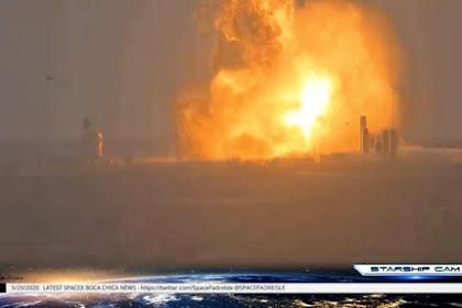 Sehari Sebelum Peluncuran, Roket SpaceX Meledak