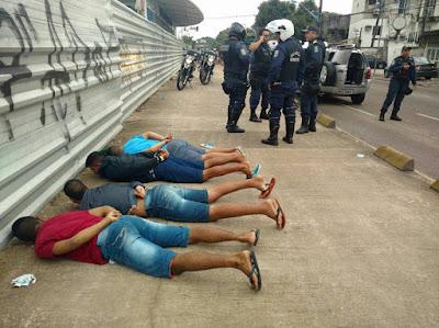 Três elementos são detidos e um menor apreendido durante abordagem da Guarda Municipal de Belém (PA)