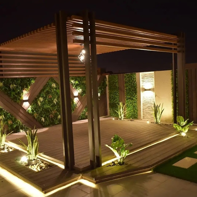 شركة تصميم جلسات الحدائق والجلسات الخارجية علي البحر في جدة وينبع شركة الطارق