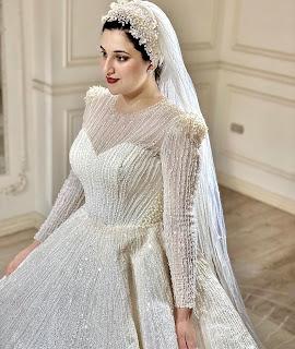 موديلات فساتين زفاف افراح اميرة قزامل 2021