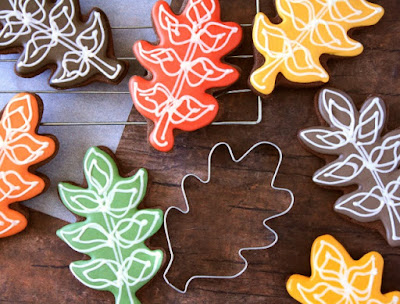 fall leaf sugar cookie decorating tutorial