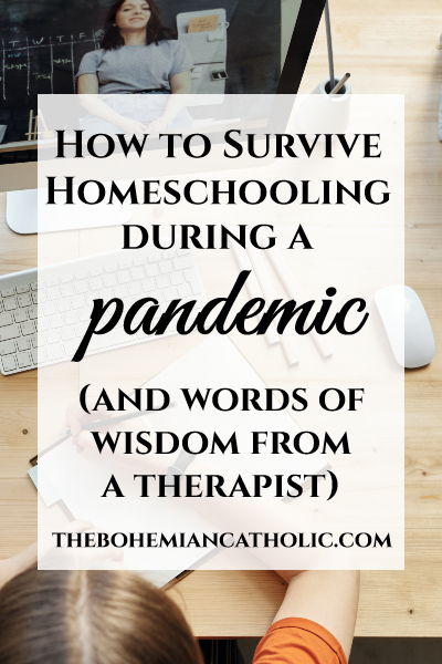 bohemian catholic homeschooling pandemic