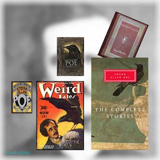 Εξώφυλλα διάφορων εκδόσεων με έργα του Έντγκαρ Άλλαν Πόε