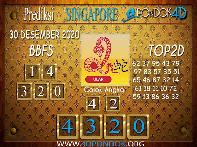 Prediksi Togel SINGAPORE PONDOK4D 30 DESEMBER 2020