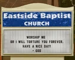 funny church sign have a nice day god