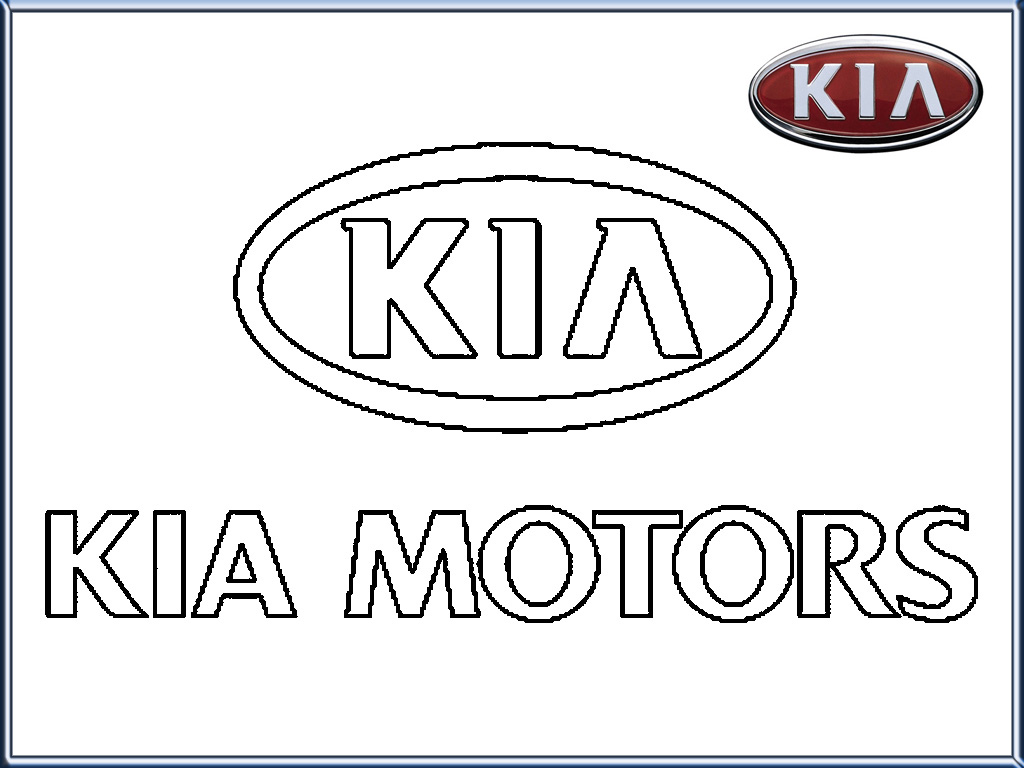 Kia Motors Logo Coloring Pages Printable Realistic