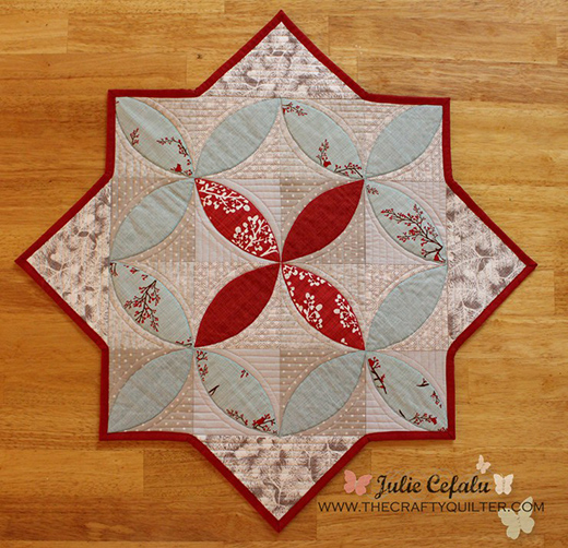 Winter Seeds Table Topper free Tutorial by Julie Cefalu of The Crafty Quilter