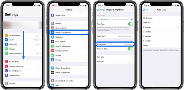 merubah screen lock time iphone dan ipad