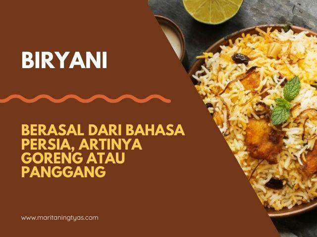 sejarah nasi biryani