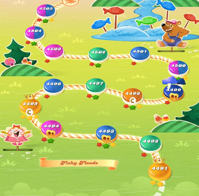 Candy Crush Saga level 4491-4505